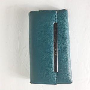 "Steve Madden Blue 16 CardSlot 4/8"" Chic Wallet"